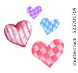 cute hand painted watercolor... | Shutterstock . vector #525705709