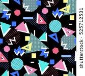 memphis seamless pattern of... | Shutterstock . vector #525712531