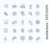 vector gamification concept  ... | Shutterstock .eps vector #525715291