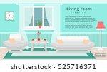 website banner of living room... | Shutterstock .eps vector #525716371