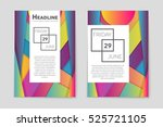 abstract vector layout...   Shutterstock .eps vector #525721105