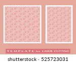 abstract cutout panels set for... | Shutterstock .eps vector #525723031