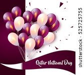 happy qatar national day.... | Shutterstock .eps vector #525725755
