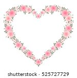 vector floral frame in a shape of