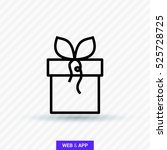 gift isolated minimal icon. box ... | Shutterstock .eps vector #525728725