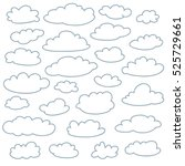 cloud outlines collection. set... | Shutterstock .eps vector #525729661
