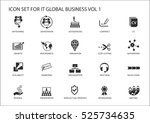 global business vector icon set | Shutterstock .eps vector #525734635