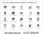 industrial internet of things... | Shutterstock .eps vector #525734659