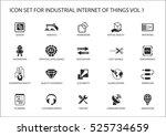industrial internet of things... | Shutterstock .eps vector #525734659