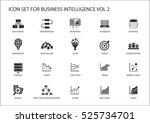 business intelligence  bi ... | Shutterstock .eps vector #525734701