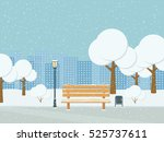 Winter City Park Snowfall. Fla...