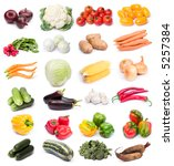 image set of fresh ripe... | Shutterstock . vector #5257384