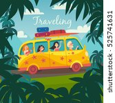 summer trip vector illustration.... | Shutterstock .eps vector #525741631