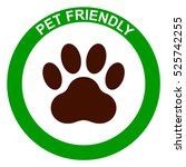 pets allowed  pet friendly sign ... | Shutterstock .eps vector #525742255