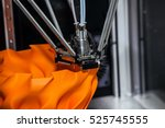 3d printer printing. close up... | Shutterstock . vector #525745555