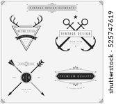 vintage vector design elements... | Shutterstock .eps vector #525747619