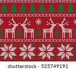 knitted christmas and new year... | Shutterstock .eps vector #525749191