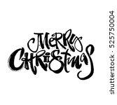 merry christmas modern... | Shutterstock .eps vector #525750004