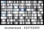 silver gradient background... | Shutterstock .eps vector #525753355