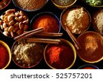 indian spices are seen here. | Shutterstock . vector #525757201