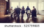meeting table networking... | Shutterstock . vector #525759805