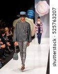 moscow   october 17 the model... | Shutterstock . vector #525763207