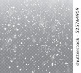 falling snow with snowflakes on ... | Shutterstock .eps vector #525764959