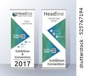 vertical roll up banner... | Shutterstock .eps vector #525767194