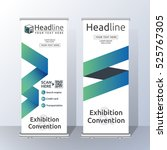 vertical roll up banner... | Shutterstock .eps vector #525767305
