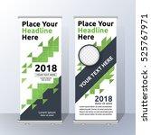 vertical roll up banner...   Shutterstock .eps vector #525767971