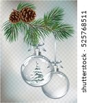 vector christmas fir tree and... | Shutterstock .eps vector #525768511