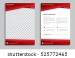 Red flyer design template - brochure - annual report - cover - booklet, front and back page   Shutterstock vector #525772465