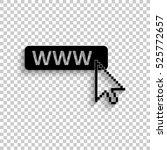 www icon   black vector  icon... | Shutterstock .eps vector #525772657