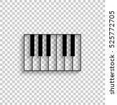 Piano   Black Vector  Icon Wit...