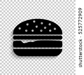 burger   black vector  icon... | Shutterstock .eps vector #525772909