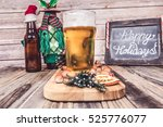 christmas beer  | Shutterstock . vector #525776077