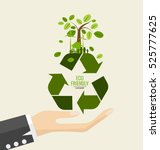 eco friendly. ecology concept... | Shutterstock .eps vector #525777625