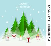 christmas greeting card with... | Shutterstock .eps vector #525779701