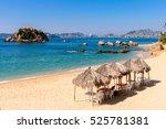 coast of the pacific ocean ... | Shutterstock . vector #525781381