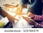 team  businessmans job .... | Shutterstock . vector #525784579