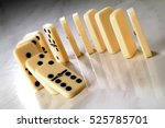 Row Of Dominoes In A Semicircl...