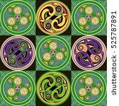 celtic patterns is computer... | Shutterstock .eps vector #525787891