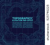 topographic map background... | Shutterstock .eps vector #525790225