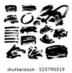 set of 20 black ink hand... | Shutterstock .eps vector #525790519