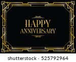 happy anniversary art deco... | Shutterstock .eps vector #525792964