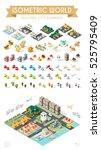 isometric world. set of... | Shutterstock .eps vector #525795409