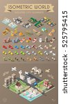 isometric world. set of... | Shutterstock .eps vector #525795415