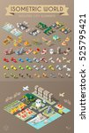 isometric world. set of... | Shutterstock .eps vector #525795421