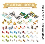 isometric world. set of... | Shutterstock .eps vector #525795451