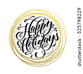 happy holidays gold greeting...